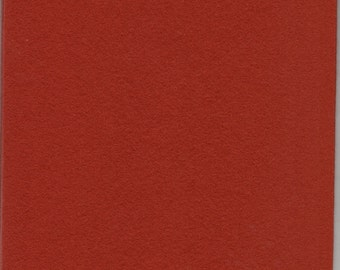 Pure Wool Felt Sheet - Red-Brown - Various Sizes