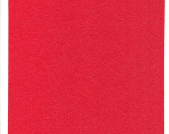 Pure Wool Felt Sheet - Tomato - Watermelon - Various Sizes