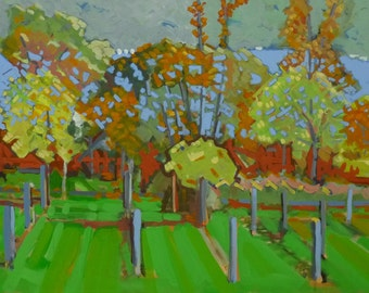 "Cayuga Lake Finger Lakes Painting . ""Cayuga Lake"" 24x36 in."