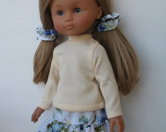 Clothes for Corolle Les Cheries Doll Top,Skirt and Hair bands