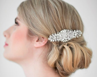 Wedding Hair Comb,  Bridal Head Piece, Crystal and Pearl Hair Comb, Wedding Hair Accessory