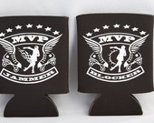 2 Pack of MVP Jammer and Blocker Roller Derby After Party Beer or Soda Koozies