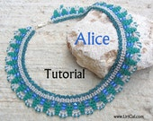 Alice SuperDuo Beadwork Necklace PDF Tutorial