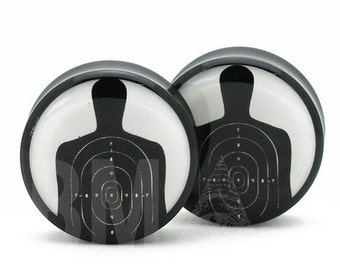 "11/16"" (18mm) Shooting Target BMA Plugs Pair"