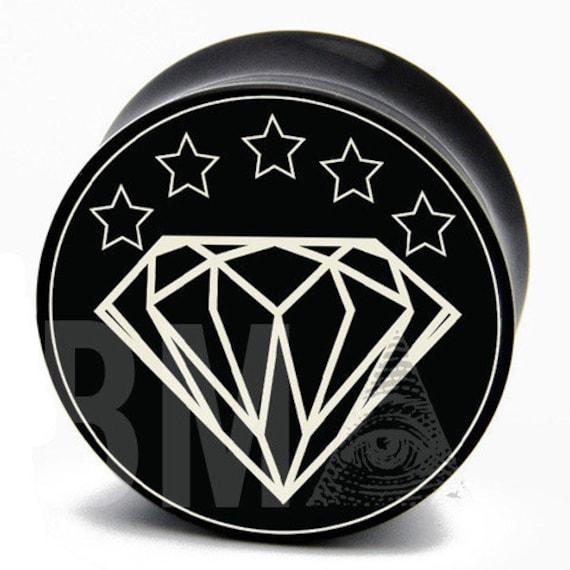 2g (6mm) Diamond BMA Plugs Pair