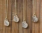 Sorority Necklace Petite Gold Heart - Sorority Jewelry, Big Sis Little Sis Initiation Gift Bid Day Gift Sorority Recruitment Gift