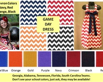 Game Day Dress - Choose your Chevron - Choose your Ribbon...Girls Chevron Dress...Custom Chevron Dress