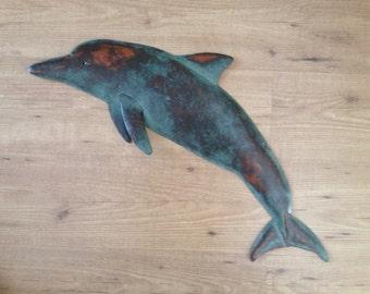 Dolphin Metal Fish Wall sculpture Tropical Beach Coastal ocean Art