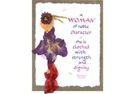 NOBLE WOMAN Birthday Card