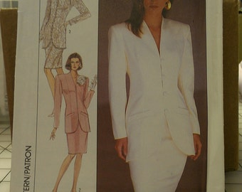 Formal MOB Jacket Skirt Suit Semi Fitted 12 Simplicity 8433