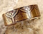 Etched Brass Cuff Dragonflies