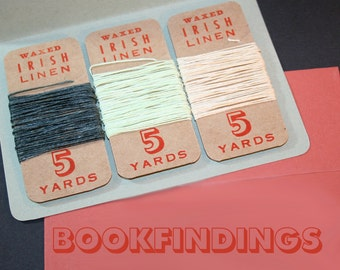 15 yards, YOU PICK COLORS, waxed irish linen set of 3