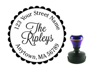 Personalized Self Inking Return Address Stamp - self inking address stamp - Custom Rubber Stamp R136