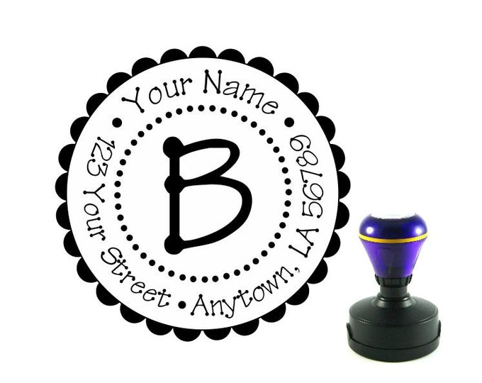 Personalized Self Inking Return Address Stamp - self inking address stamp - Custom Rubber Stamp R91