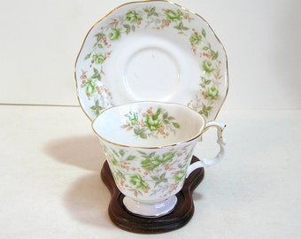 Royal Albert Green Velvet Teacup And Saucer