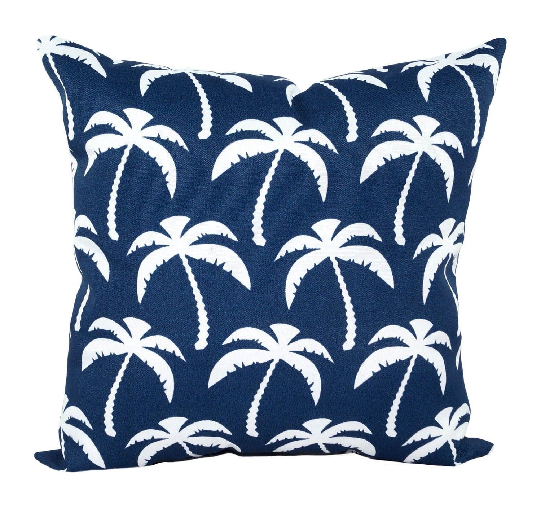 Outdoor Palm Pillow STUFFED Throw Pillows by LandofPillowsDotCom