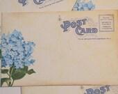 50 - Wedding Wishes - Wedding Guestbook Alternative - Vintage Post Cards -  Wedding Escort or Wedding Table Placecards - Blue Hydrangea