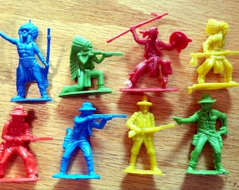 1970s Tim Mee 2nd Series Cowboys and Indians Set of 8