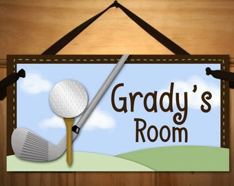 Golf Boys Bedroom Home Office Playroom DOOR SIGN Wall Art DS0045
