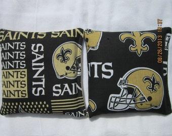 New Orleans Saints Cornhole Bags -FREE SHIPPING- Set of 8 Cornhole or Baggo Bean Bag Toss