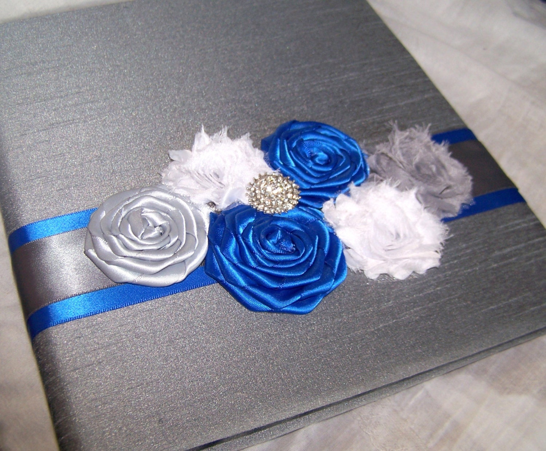 guest book photo spot royal blue guest book charcoal gray. Black Bedroom Furniture Sets. Home Design Ideas