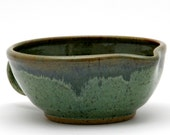 Green Batter Bowl in Forest Gold Glaze Combination