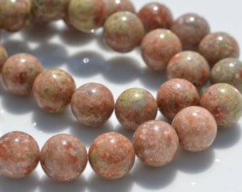 16 Autumn Jasper 12mm Round Beads   BD775