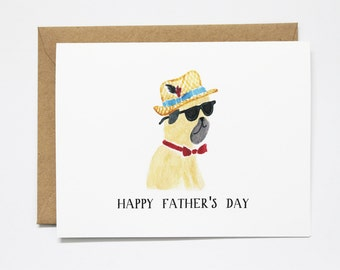 Father's Day Pug Card
