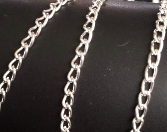 Silver Finished cable chain (5 ft) BULK  4x3mm