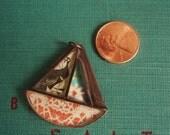 Destash! Copper, Resin, Mixed Media Sailboat pendant from Jade Scott