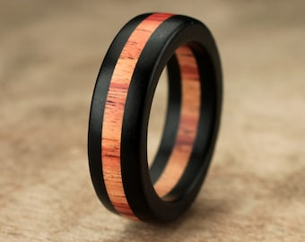 Ebony Tulipwood Ring - 6mm