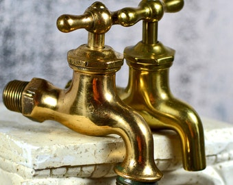 vintage brass water faucet...  Home Decor...  t 11 L