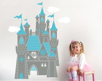 Cinderella Castle Decal: Fairy Tale Princess Wall Decal