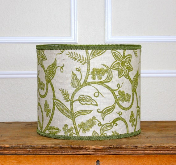 Green Floral Lamp Shade : Sale drum lamp shade lampshade pendant green floral by