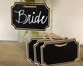 NEW- Wood Plaque Chalkboard Tags- set of 4 - Basket Labels, Chalkboard Tags, Wedding Chalkboards, Place Settings
