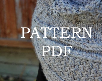 PATTERN PDF - Summer Sale Price - Knitting Pattern for DIY Katniss Inspired Cowl Capelet - 2 sizes - video tutorial link included