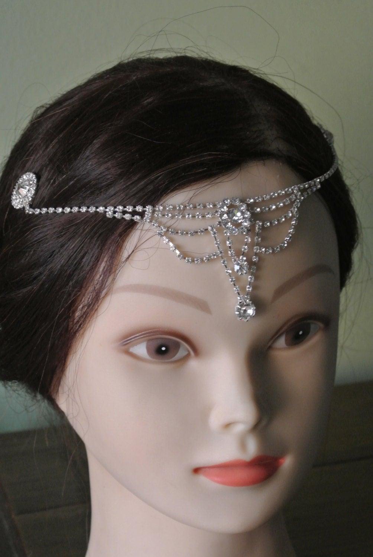 Bridal Headpiece Tiara Prom Head Band Forehead by ...