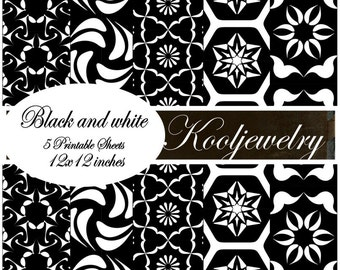 Black and white Paper Pack - No. 125