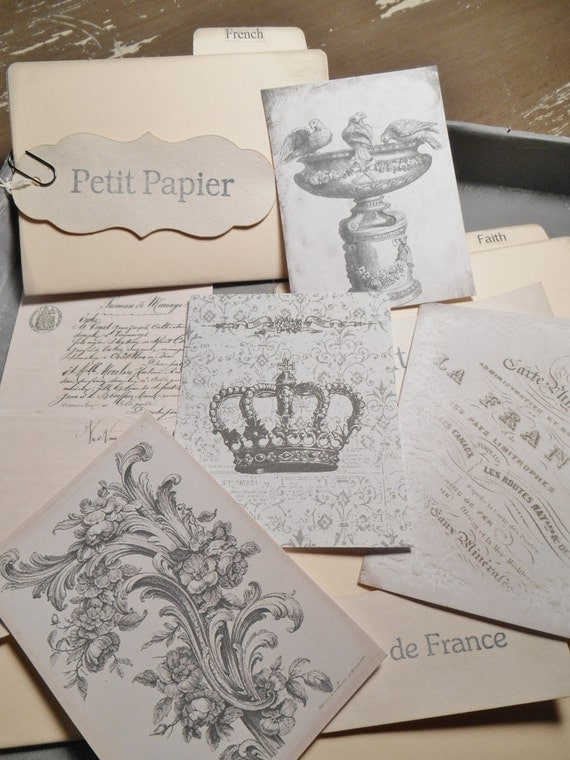Petite Files of French or Faith Scraps