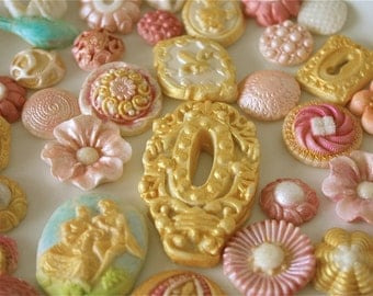 Edible decorations-candy embellishments-cupcake decorations-cookie decorations-marzipan-gumpaste