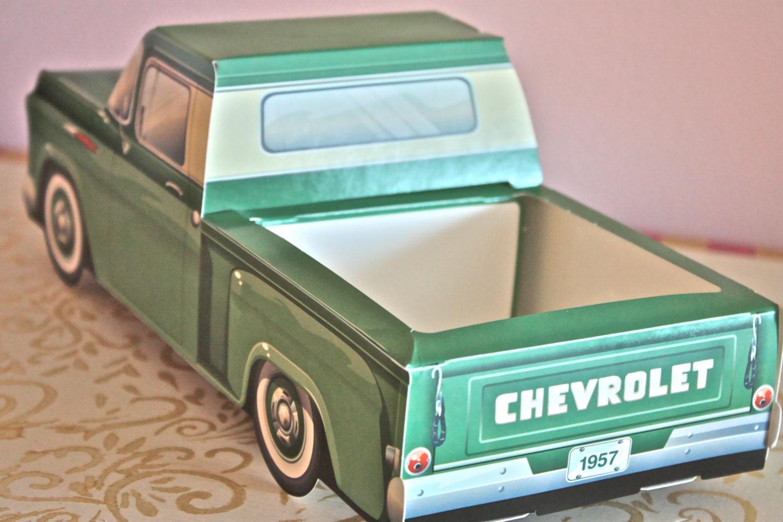 1957 Green Chevy Truck Box-cute Kids Meal Box-kids Snack