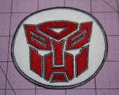 Red Transformer Iron on Patch
