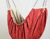 Baby Hammock - Royal Crimson Natural unbleached cotton fabric Zaza Nature Baby Hammock. Limited edition.