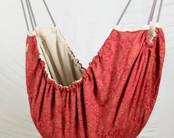 Baby Hammock - Royal Crimson Natural unbleached cotton fabric Zaza Nature Baby Hammock. Limited edition.