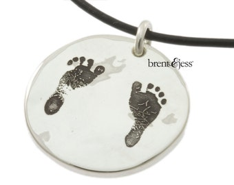 Sterling Silver  Child's Foot custom necklace