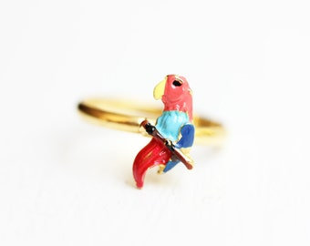 Tropical Parrot Ring