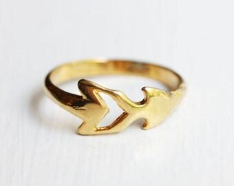 Gold Arrow Ring, Arrow Ring