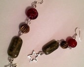 STARGAZER Beaded Bauble Earrings with Sterling Silver Hooks