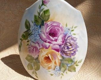 Hand Painted Spring Flower Modern Vase