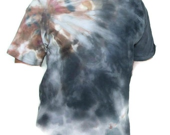 Tie Dye Tee in grey and brown size XL
